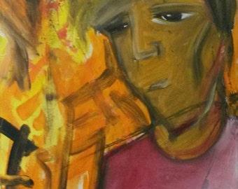 Untitled acrylic on canvas 50/70 cm