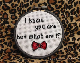 Pee wee Herman movie quote cross stitch wall art