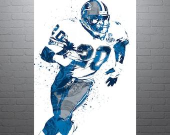 Barry Sanders Detroit Lions Poster
