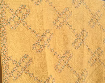 Antique Jacobs Ladder Quilt/ FREE SHIPPING