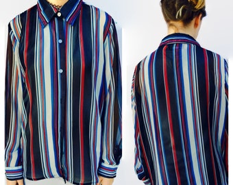 FLASH SALE 20% off striped sheer blouse