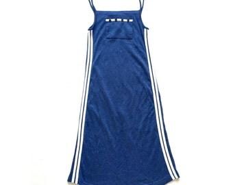 90s Sporty Side Striped Dress