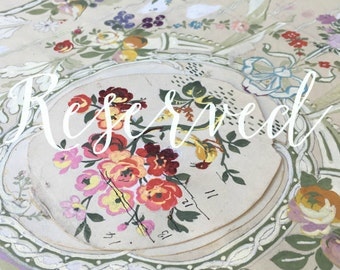 RESERVED AIMEE 1800s hand painted silk fabric draft esquise museum collector piece wallpaper vintage paper french ephemera interior decor
