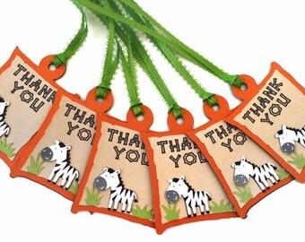 Zebra Favor Tags - Safari Favor Tags - Zebra Thank You Tags - Thank You Tags - Safari Thank You Tags - Safari Theme Favor Tags - Gift Tag