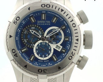 Invicta Reserve Bolt II 11595 Chronograph Blue Dial Stainless Steel Men's Watch