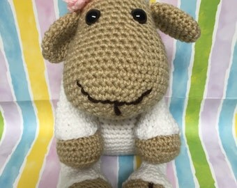 Crocheted Lucy Lamb