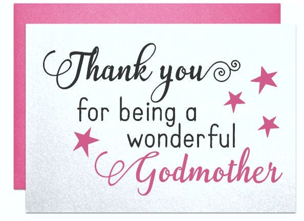 Birthday Wishes For Godmother Nicewishes Com: Card For Godmother Gift Note Thank You For Being A Wonderful