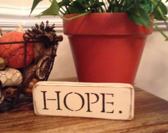 "Distressed Wooden ""Hope""  Sign"