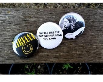 Nirvana Pinback Buttons