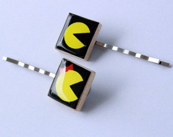 Pac-Man & Mrs. Pac-Man Scrabble Tile Bobby Pins