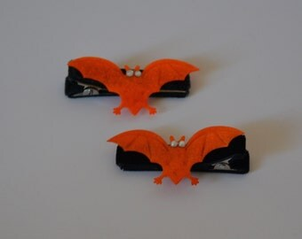 Glam Bat Hair Clips