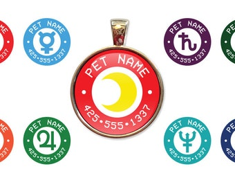 Sailor Moon Custom Pet ID Tags