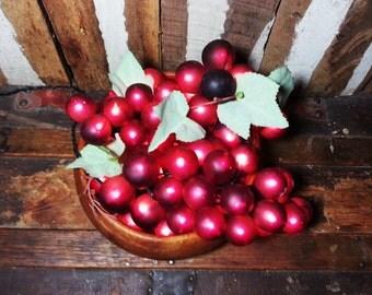 One-of-a-kind Light-Up Bowl Of Fruit Grape Grapes Arrangement Art Home Decor Accent Lamp Lights