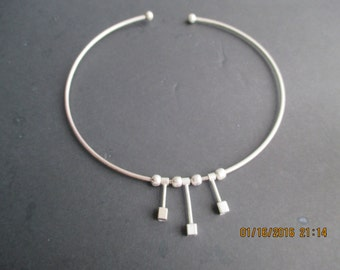 Sterling Silver Collar Necklace...Great Look..movable parts..New...Taxco