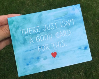 I am sorry card - sympathy card - cancer card - card for loss - so sorry - thinking of you card