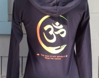 Yoga Hoodie Om Sign on Black