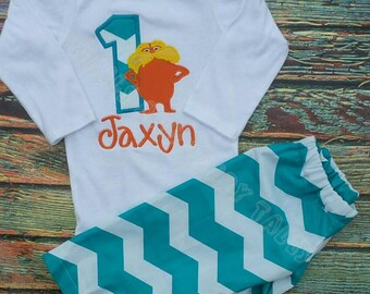 ANY BIRTHDAY Dr. Suess Lorax Shirt or Onesie Birthday