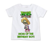 Plants vs. Zombies Mom of the Birthday Boy Digital Birthday Party Iron on Transfer T-shirt DIY Printable
