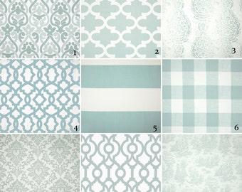 Snowy blue curtains | Etsy