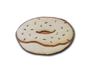 Donut Wooden Pin