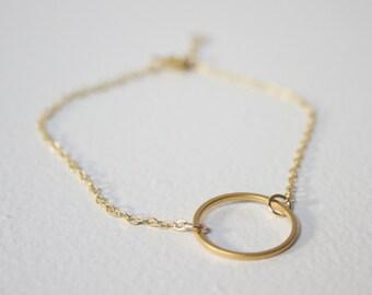 Gold Hoop Bracelet