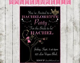 Burlesque Bachelorette Invitation -DIGITAL