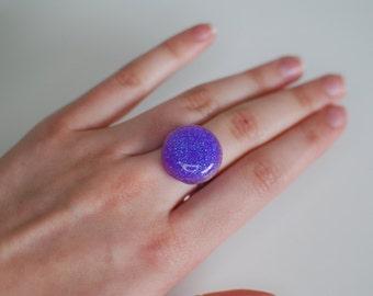 Purple Glitter Ring