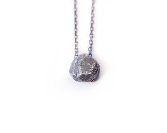 Delicate silver necklace - Delicate silver - Oxidized necklace