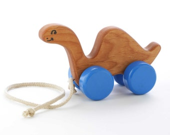 Wooden Dinosaur Pull Toy - Toddler Gift