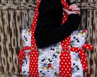 Mickey/Minnie Tote Bag, Beach Bag, Gym Bag
