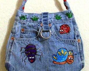 Bugs -- Denim Handbag -- Item Number 1154-- 7 Pockets