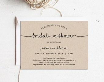 Printable bridal Etsy