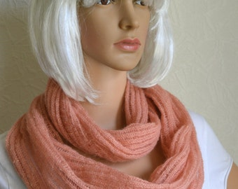 Handmade light women's shawl - snood scarf