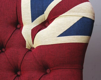 Winston Union Jack Upholstered Armchair