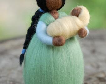 Mom, fairy tale inspired wool Waldorf