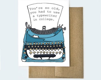 Birthday Card Dad | Birthday Card Mom | Funny Birthday Card | Old Age Card | Birthday Card