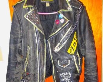Leather Punk Rock Jacket