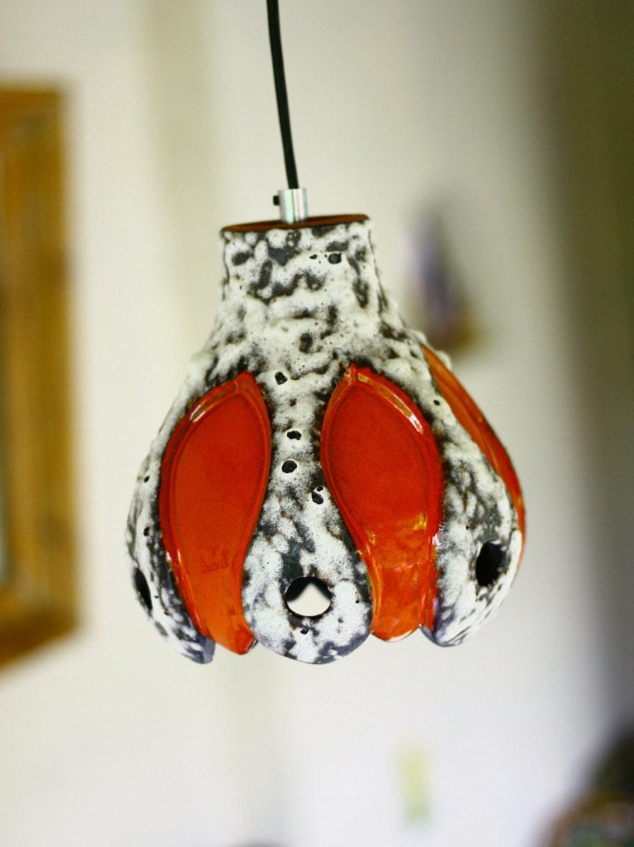 Lava lamp overnight - Fat Lava Lamp Hanging Lamp Ceramic Pottery Retro Retro Orange Lamp Pendant Light Orange Fatlava Ceramics Pottery Pendant Light Funky Retro Lamp