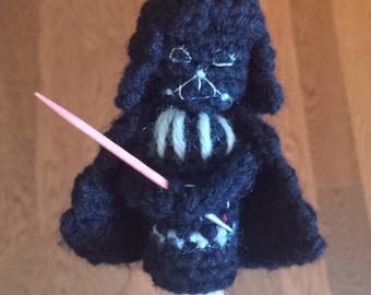 Darth Vader Crochet Finger Puppet Pattern,  Star Wars Finger Puppet Pattern, Star Wars Crochet