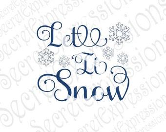 Let it Snow Svg, Snow Svg, Snowflake Svg, Winter Svg, Christmas Svg, Digital Cutting File JPEG DXF, SVG Cricut, Svg Silhouette File