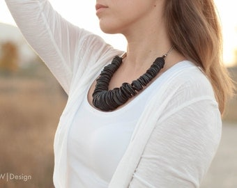 Rubber circles necklace