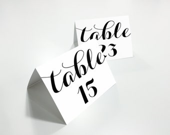 Printable Table Numbers, Printable Wedding Table Numbers, Tented Table Number, Rustic Wedding, DIY, PDF Instant Download, WBWD3