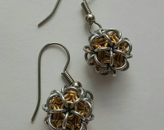Chainmaille Japanese Ball Earrings