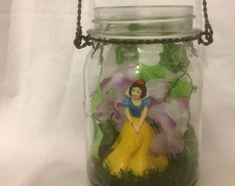 Hanging Mason Jar Garden with Fairy/Princess
