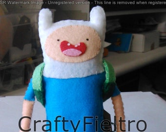 Finn Adventure Time plushie