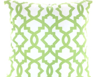 Green Decorative Throw Pillow Cover Cushion Covers Kiwi Green Geometric Pillows Couch Pillows Sheffield, Throw Pillow, One or More All Sizes