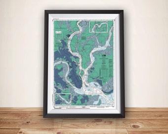 Charleston SC Art, Charleston, Charleston Map, Charleston Print, Charleston Poster, Charleston SC