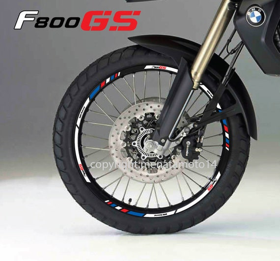 BMW FGS Motorbike Wheel Rim Decal Stickers Set Laminated - Bmw decals for wheels