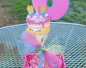 6.5 inch Shopkins centerpiece, shopkins cake topper, shopkins birthday party,birthday wishes