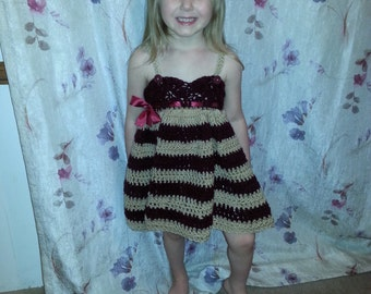 Crocheted Toddler Dress: Pick Any 2 Colors!